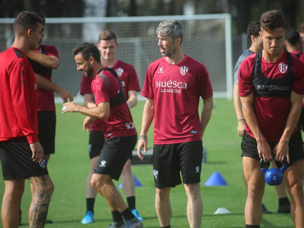 Los jugadores de la SD Huesca han regresado este miércoles a los entrenamientos.