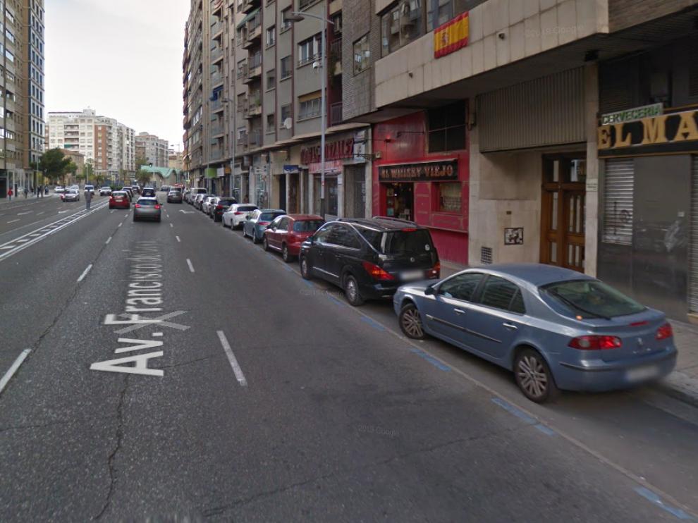 El suceso ocurrió a las 7.15 de este miércoles a la altura del número 20 de la avenida de Goya en Zaragoza.