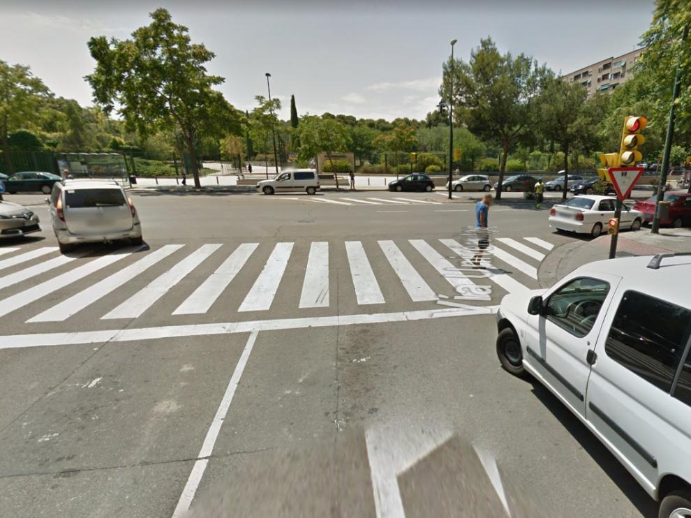 Lugar aproximado donde han ocurrido los hechos, en el barrio de Delicias.