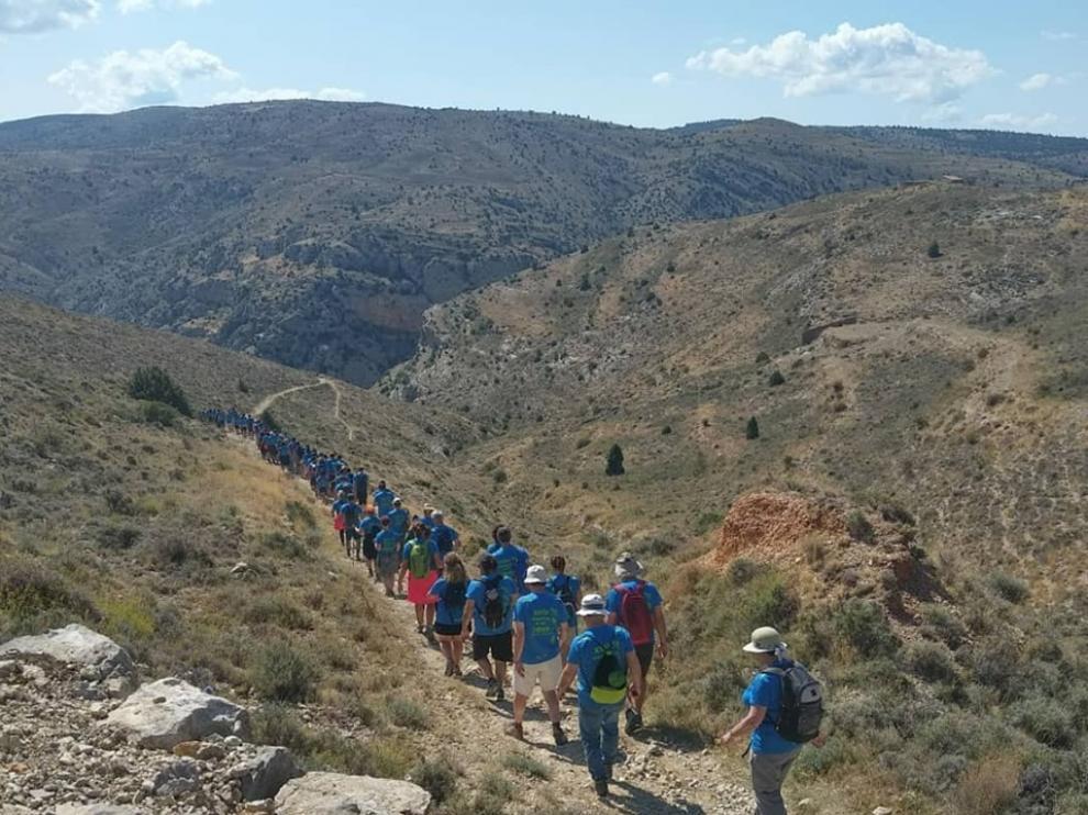 Participantes de la XXIV Marcha Bronchales-Albarracín