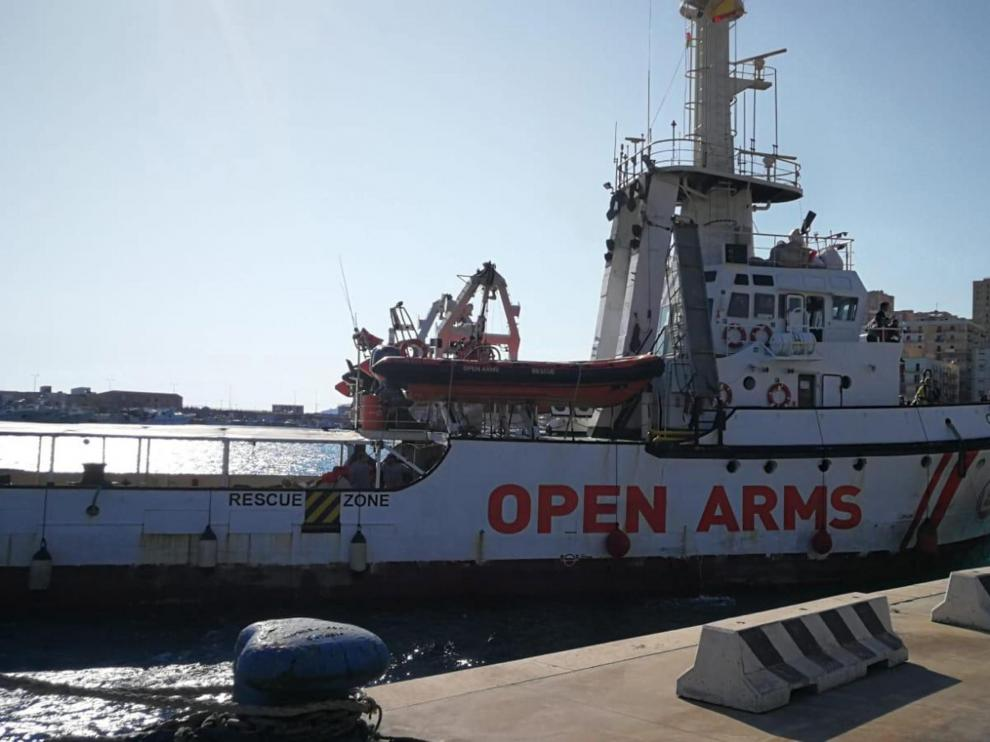 El barco de la ONG Open Arms.