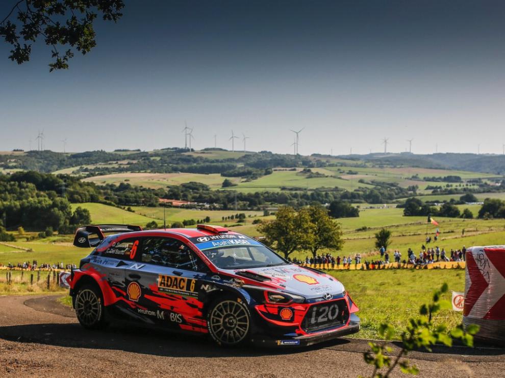 Dani Sordo en el Rally de Alemania.
