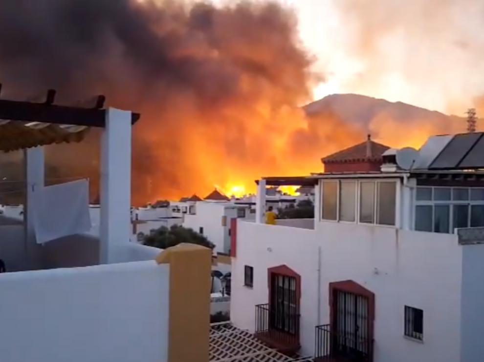 Incendio en Marbella.