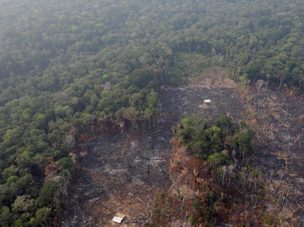 Efectos de los incendios en el Amazonas.