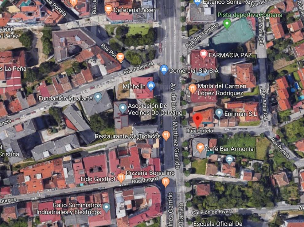 El suceso tuvo lugar en el parque de la calle Portela, de Vigo.