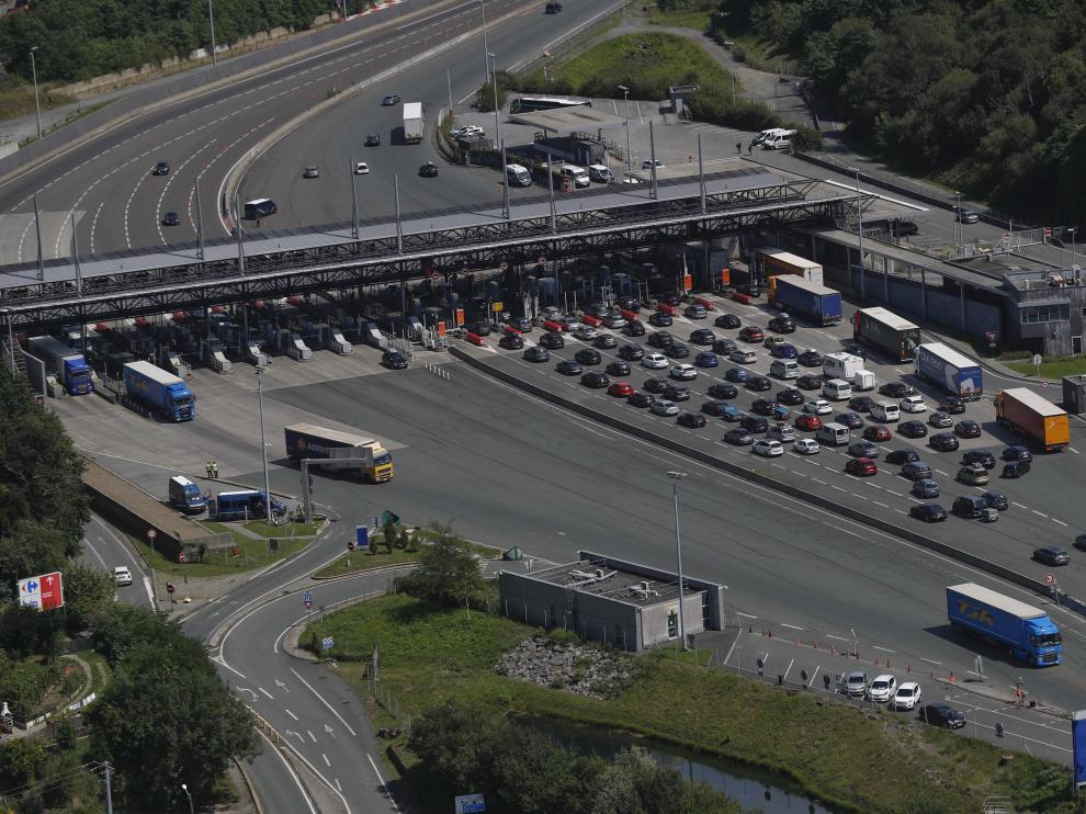 Imagen de la frontera entre España y Francia este viernes.