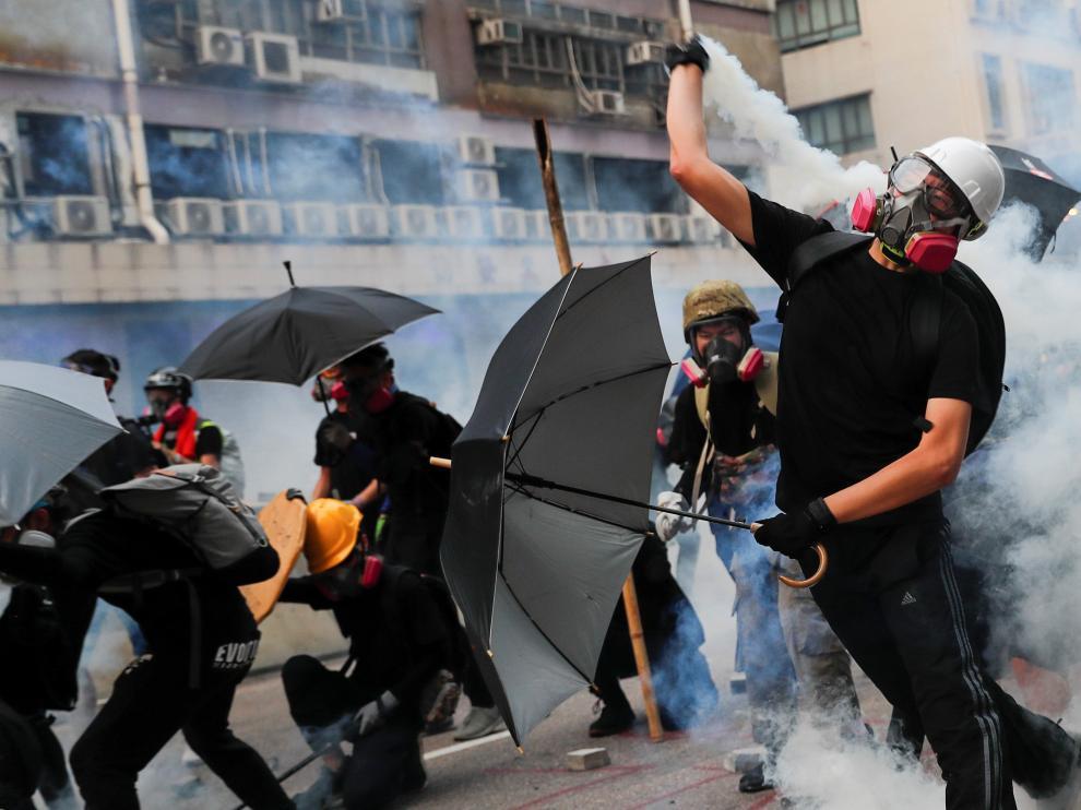 Las protestas continúan en Hong Kong.
