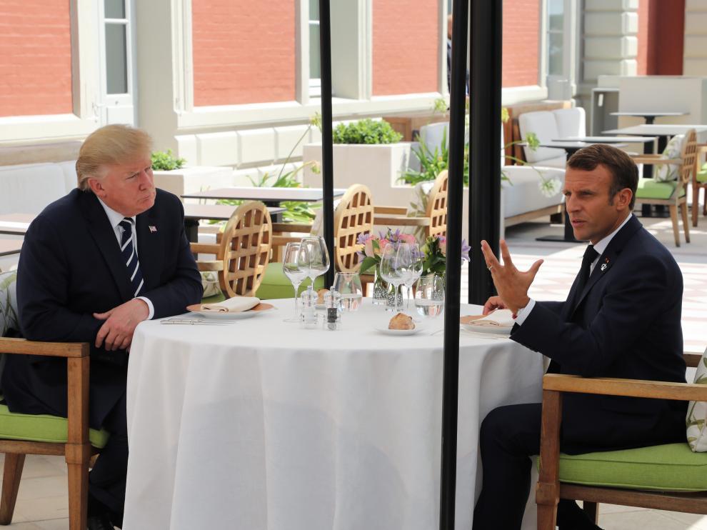 Trump y Macron en el G7.