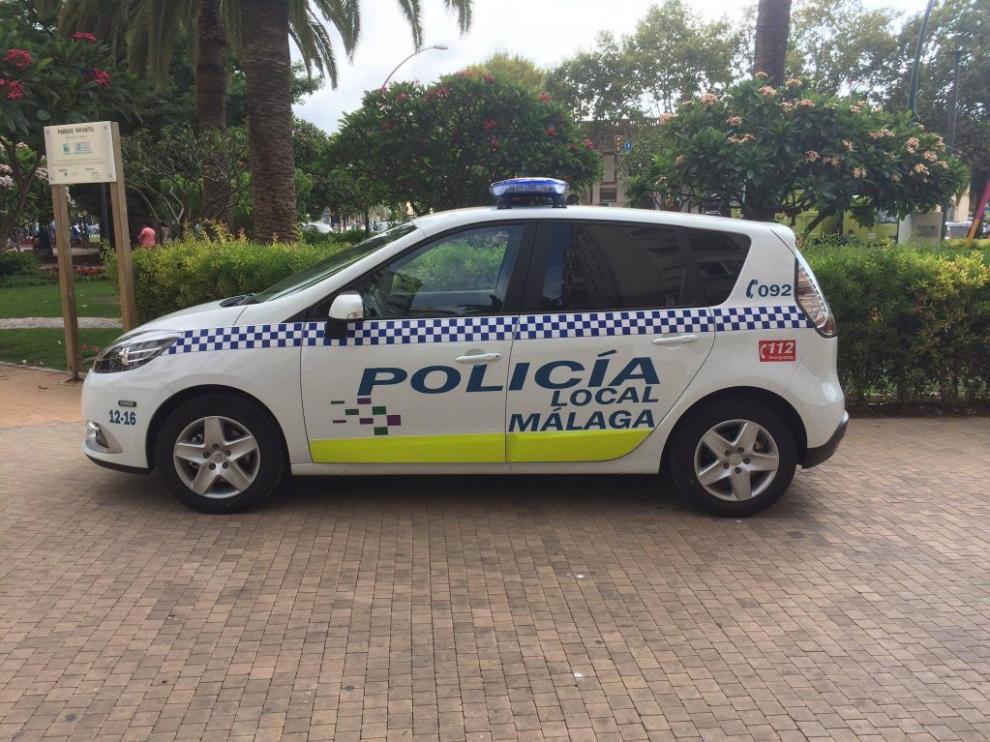 Una patrulla de la Policía Local de Málaga