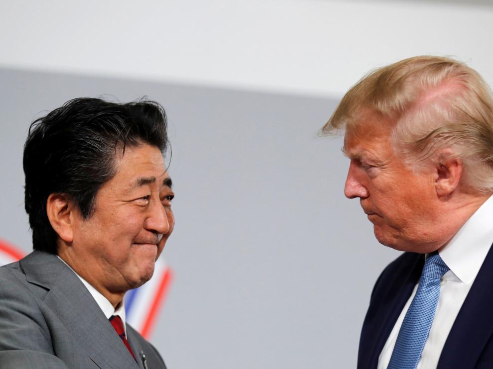 El primer ministro japonés, Shinzo Abe,y el presidente de Estados Unidos, Donald Trump.