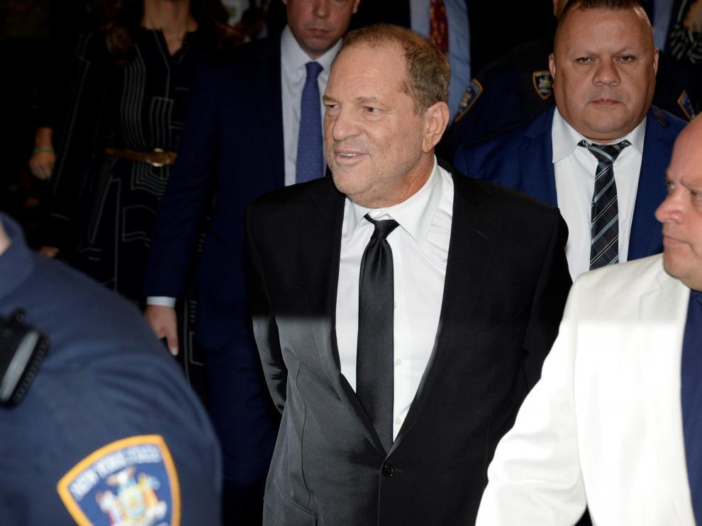 Harvey Weinstein a su salida de los juzgados de Nueva York.