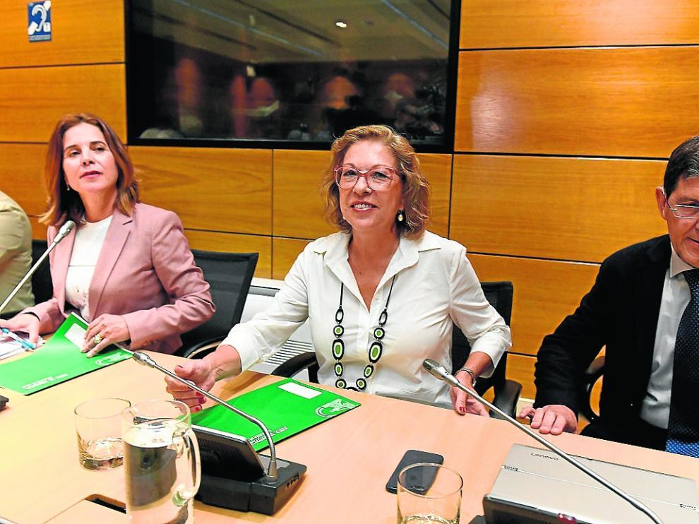 La consejera de Sanidad, durante la reunión en Madrid para abordar la gestión del brote de listeriosis