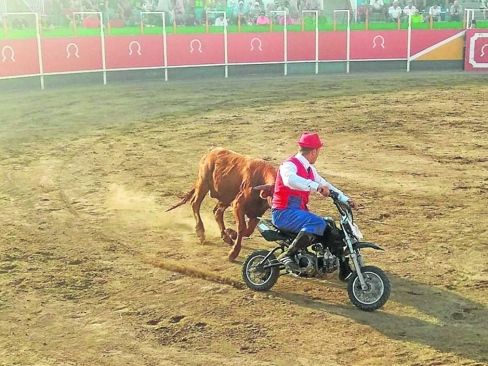 Imagen del espectáculo celebrado este lunes en la plaza de toros.