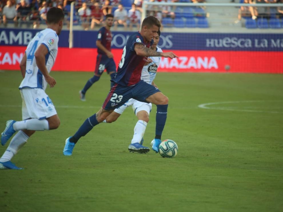 Daniel Raba, en el partido contra el Deportivo