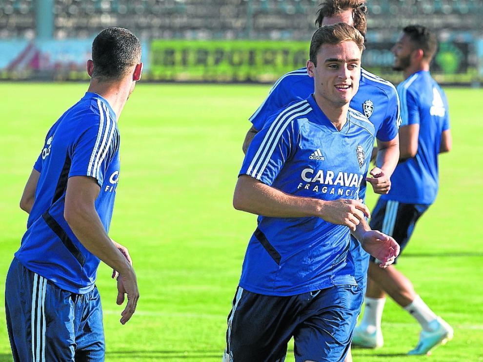 Lasure entrena en la Ciudad Deportiva junto a Grippo y Eguaras.