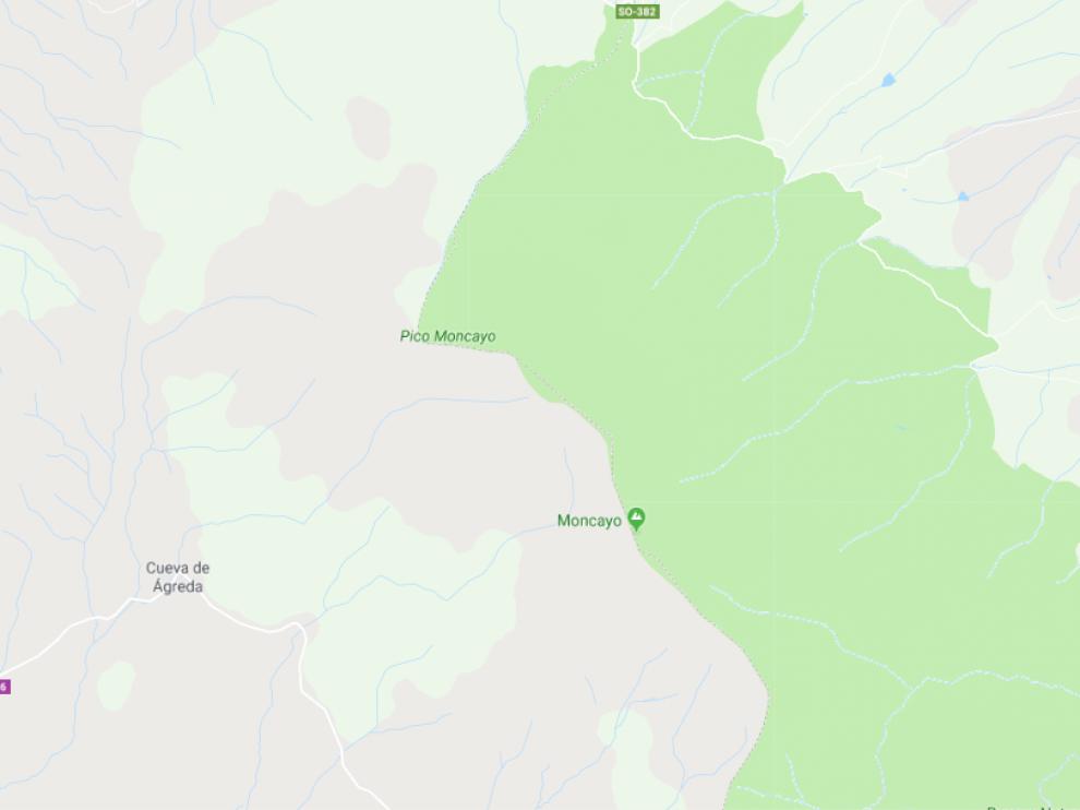 El incendio se declaró en el término municipal de Cueva de Ágreda