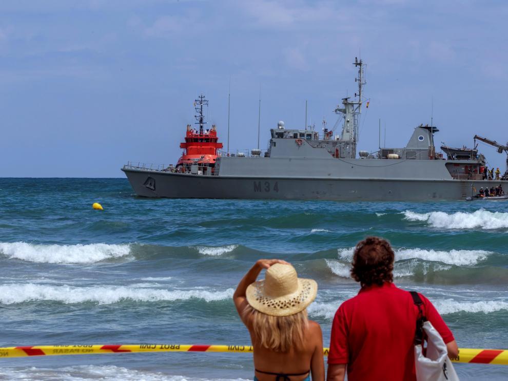 El suceso ha sorprendido a los turistas desde la playa