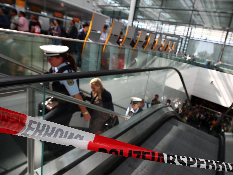 La terminal 2 del aeropuerto de Múnich ha sido acordonada tras la alarma de seguridad.