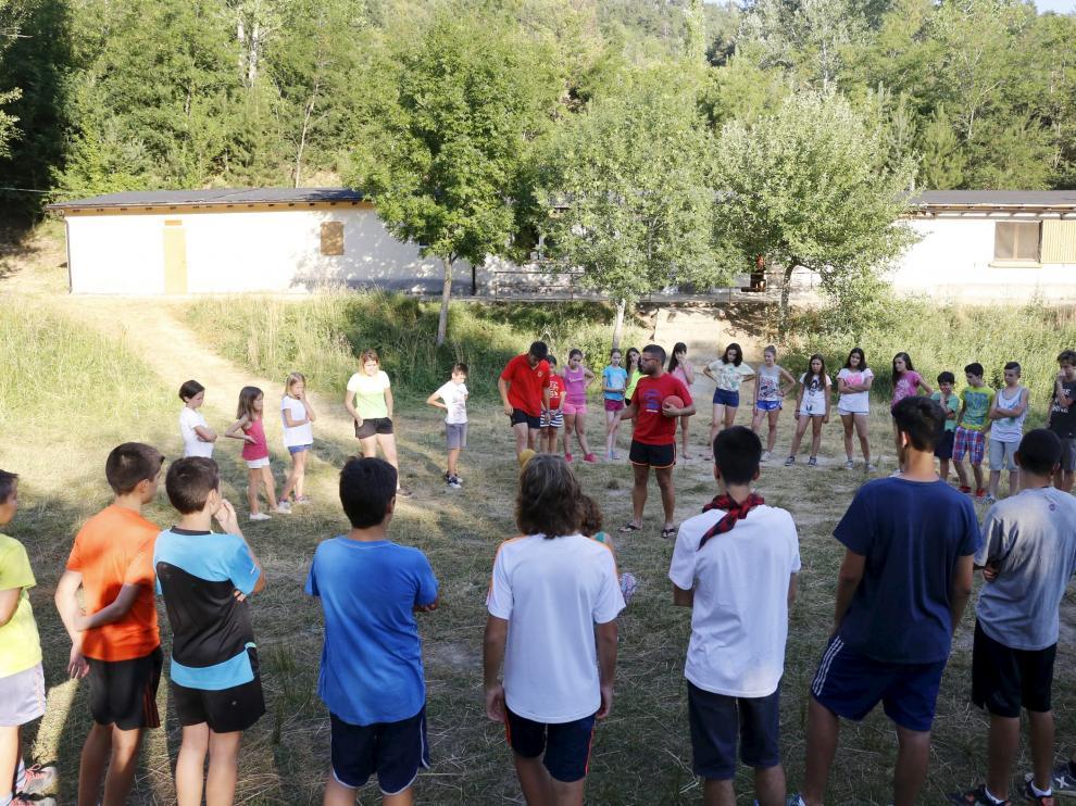 """Campamento """"Cheso"""" . Villanua. Huesca./foto Javier Broto/"""