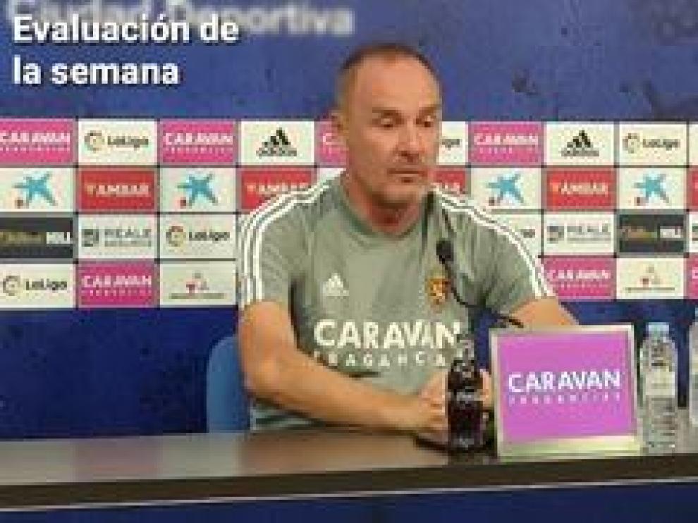 """El técnico zaragozano ha analizado el partido del pasado domingo ante la Ponferradina y ha reiterado que el de mañana será un encuentro """"totalmente diferente""""."""