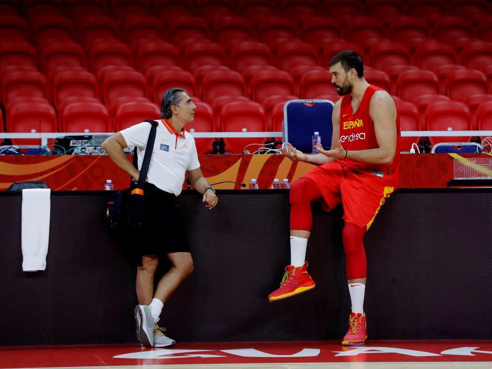 La selección española se prepara para el Mundial de Baloncesto.
