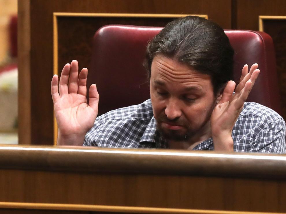 Pablo Iglesias, este jueves en el Congreso