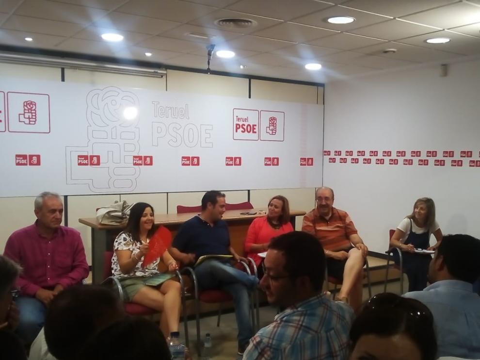 Reunión de la Ejecutiva del PSOE en la provincia de Teruel