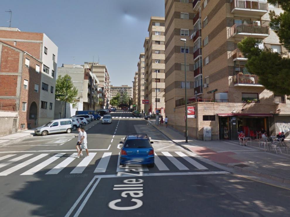 El suceso ha tenido lugar en la calle de Zafiro, en el barrio de Torrero.