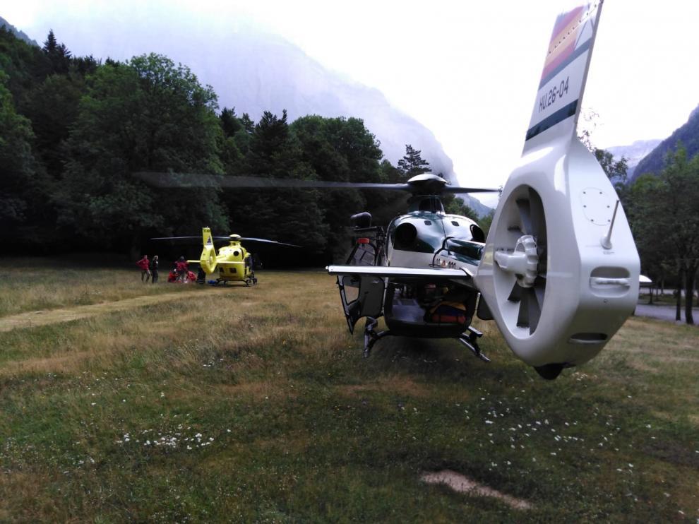 En la operación han intervenido los helicópteros de la Guardia Civil y del 112.