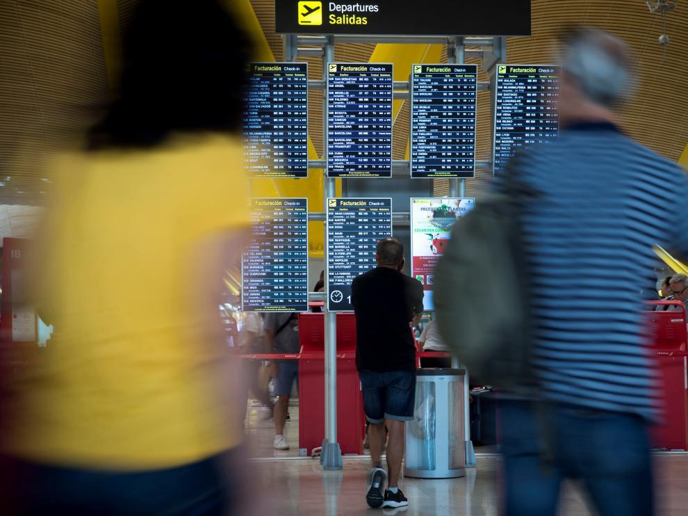 Jornada de huelga este domingo en el aeropuerto de Madrid.