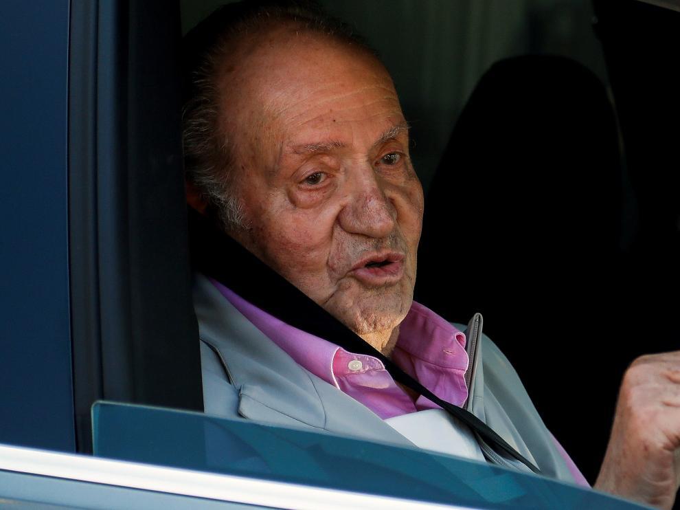 Juan Carlos I tras su salida del hospital.