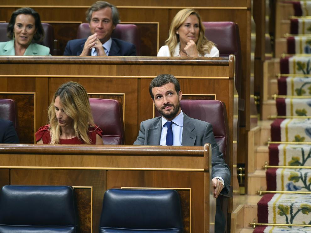 Pablo Casado y Cayetana Álvarez de Toledo en el Congreso.