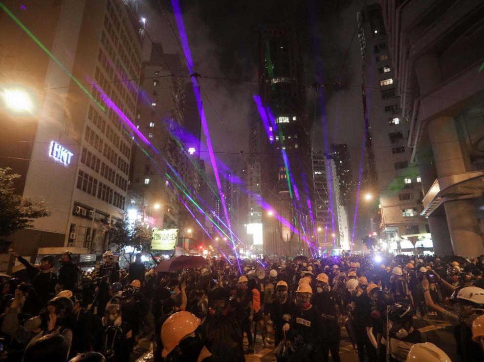 Protestas en Hong Kong.