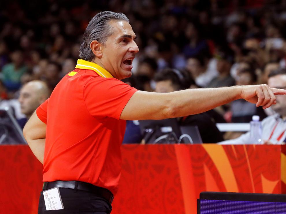 Scariolo durante el partido disputado este sábado contra Túnez.