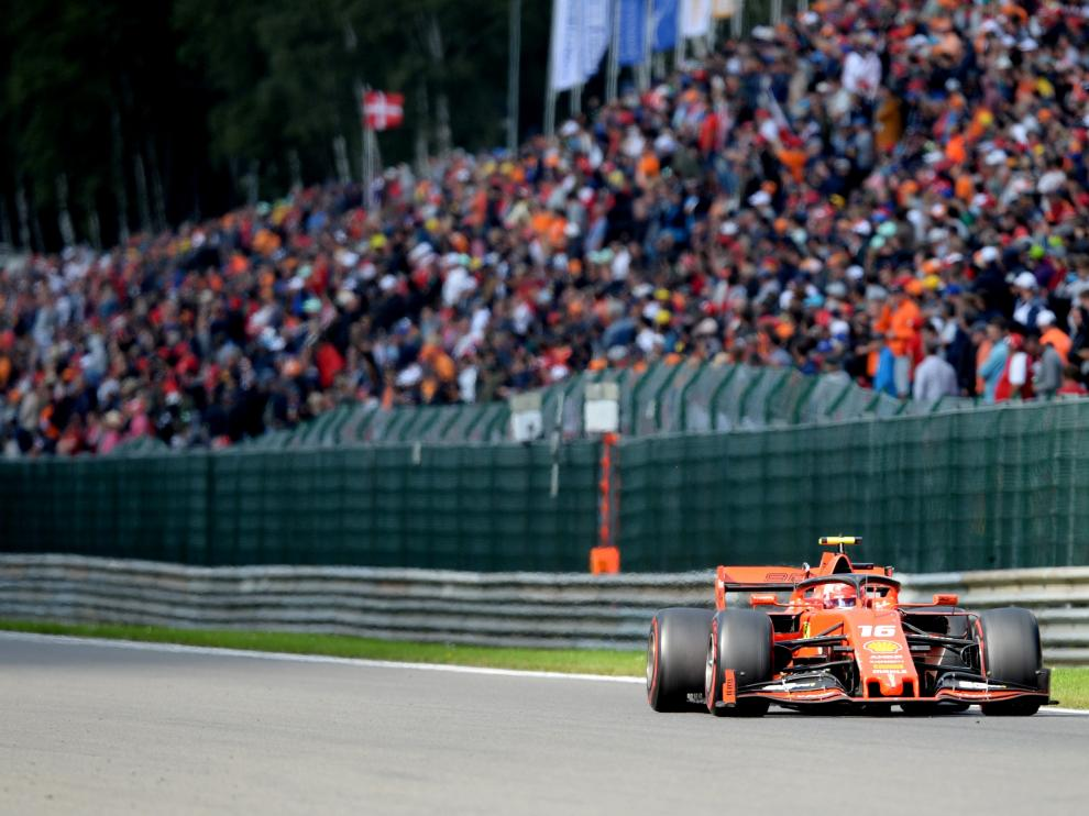 Formula One F1 - Belgian Grand Prix - Spa-Francorchamps, Stavelot, Belgium - September 1, 2019 Ferrari's Charles Leclerc in action during the race REUTERS/Johanna Geron [[[REUTERS VOCENTO]]] MOTOR-F1-BELGIUM/