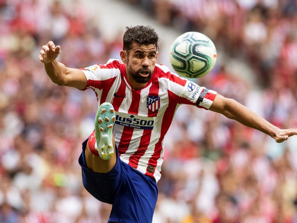 Diego Costa durante el encuentro entre el Atlético de Madrid y el Eibar.