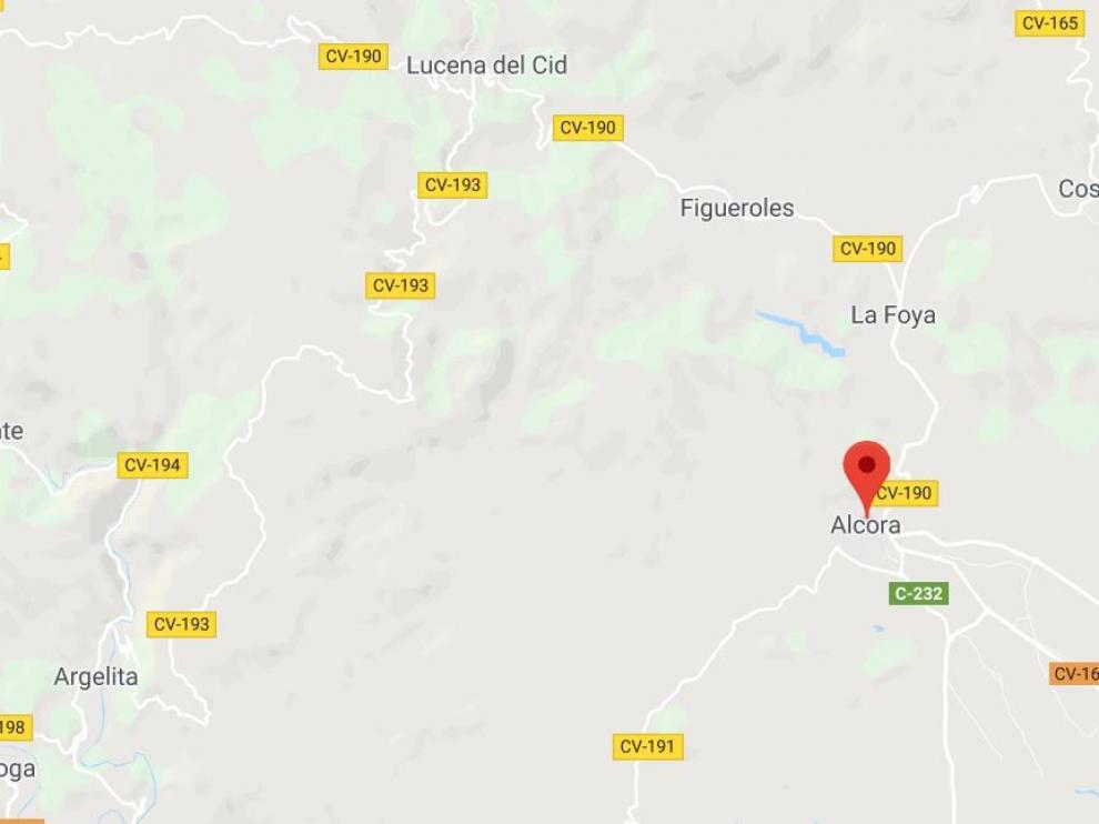 Localización del municipio de L'Alcora, en Castellón
