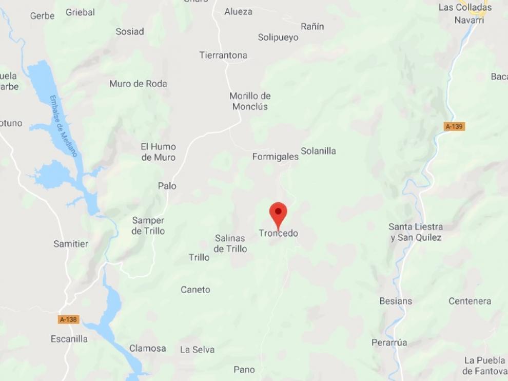 Lugar donde ha aparecido muerto el cazador, en el pueblo de Troncedo.