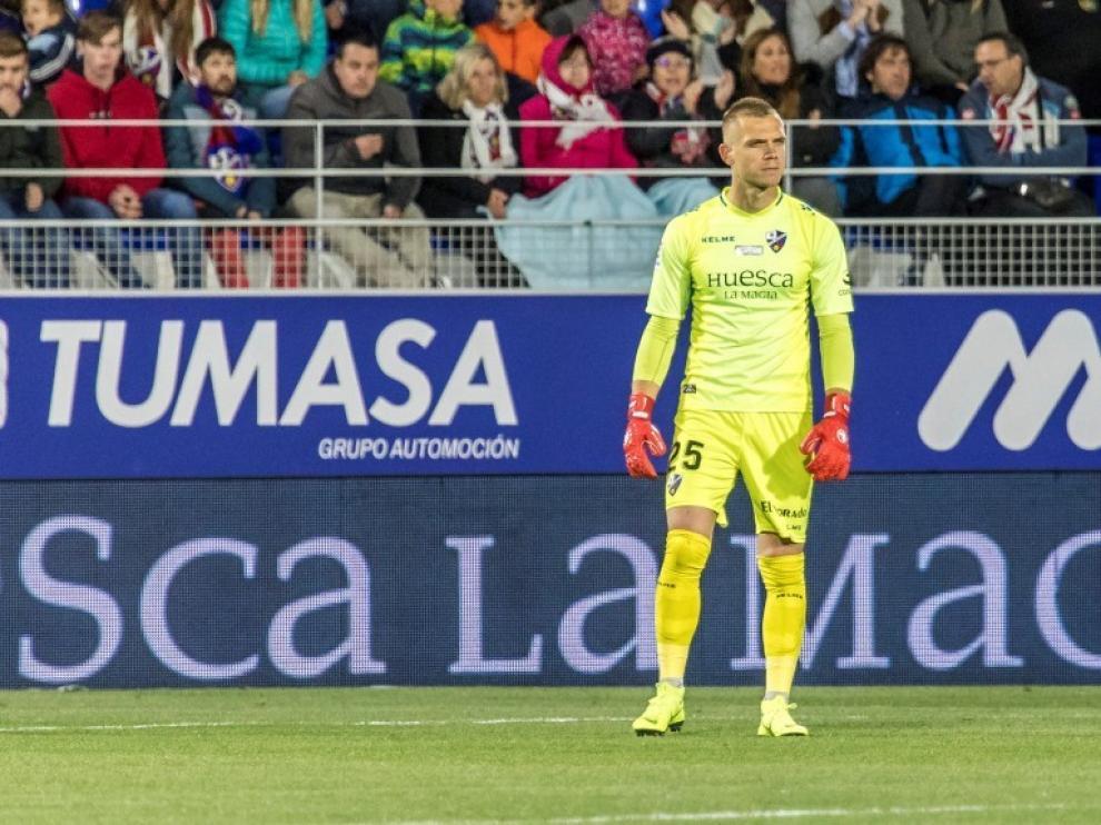 Jovanovic, con la camiseta de la SD Huesca.