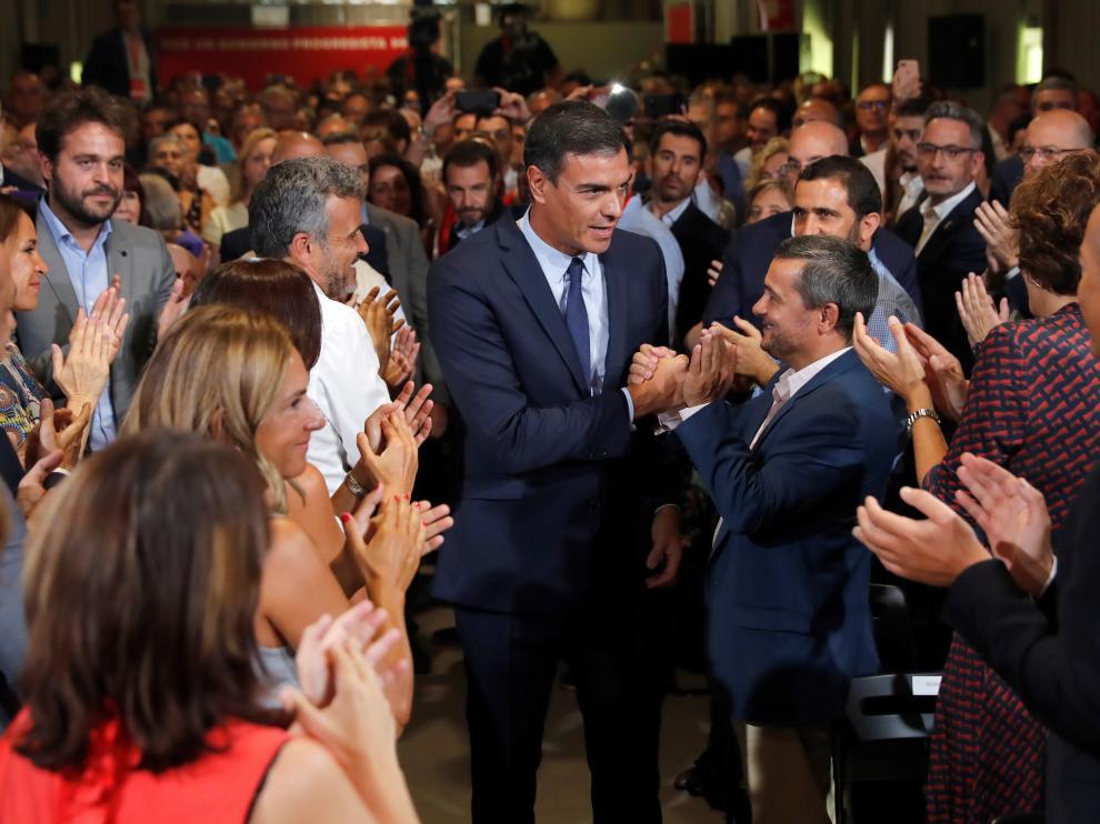 Sánchez, en el acto público para presentar su 'Programa común progresista'