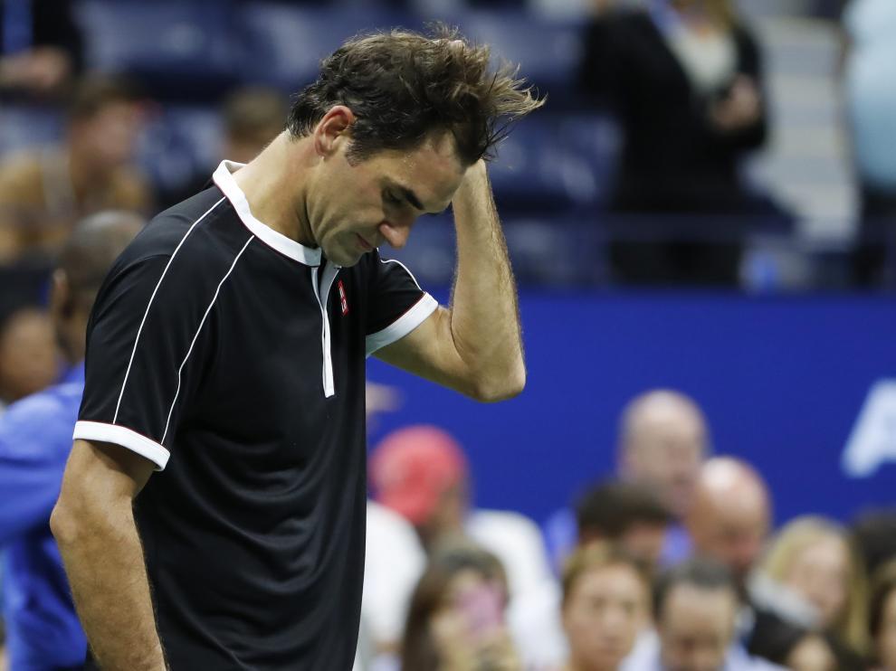 Federer tras el partido