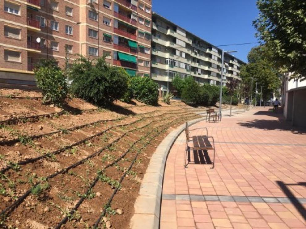 Jardines de la avenida de Ramón y Cajal.