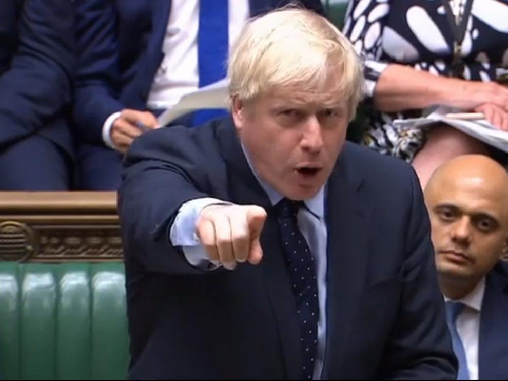 Johnson en el Parlamento británico.