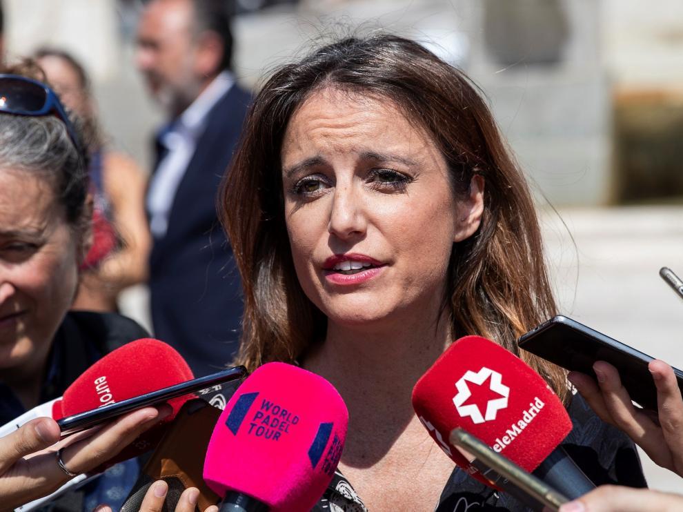 Andrea Levy, durante una comparecencia ante los medios.