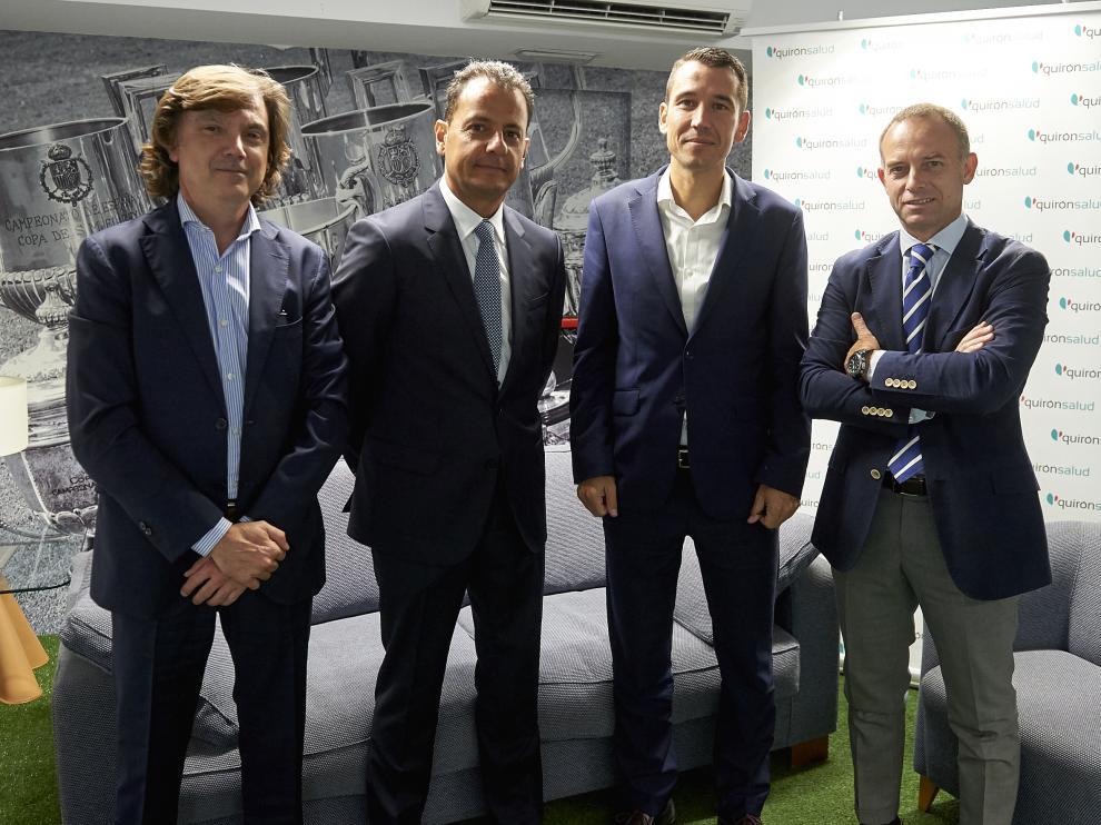 El Real Zaragoza amplía su contrato con Quirónsalud.