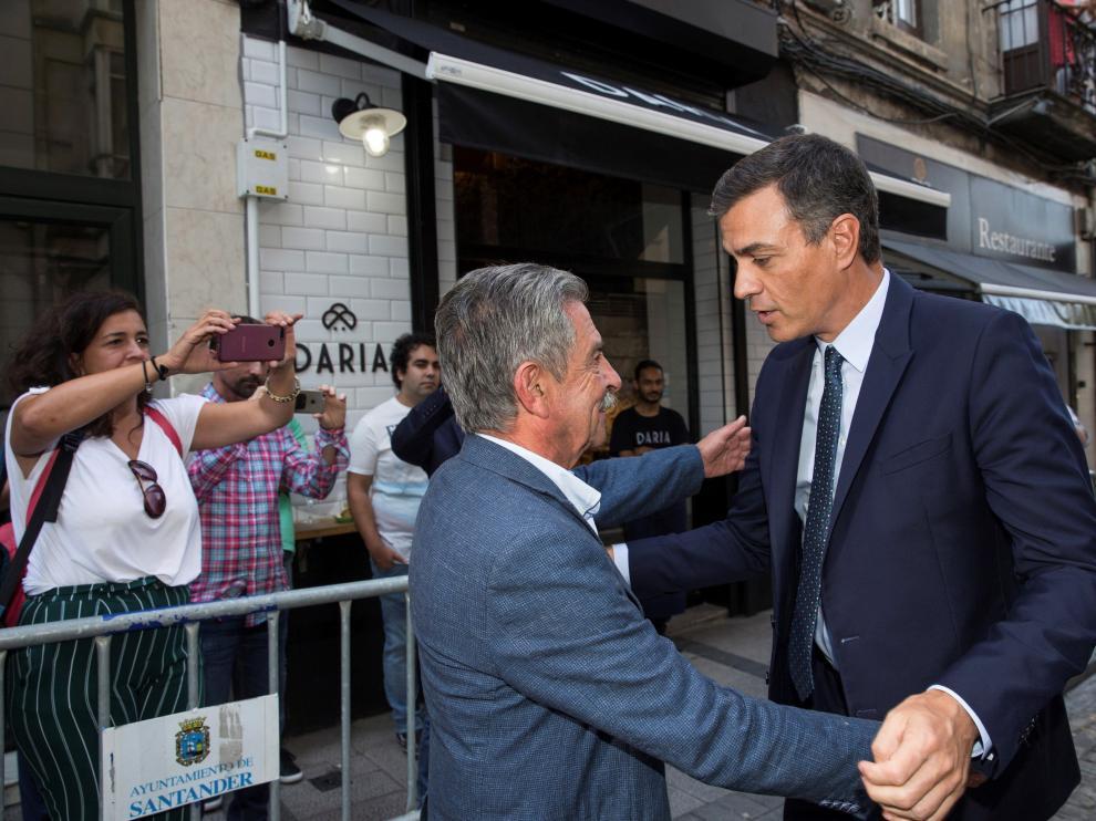 Revilla y Sánchez, este miércoles en Santander