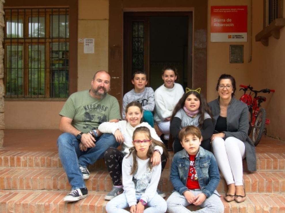 Curso del año pasado ante el colegio de Tramacastilla (Teruel).