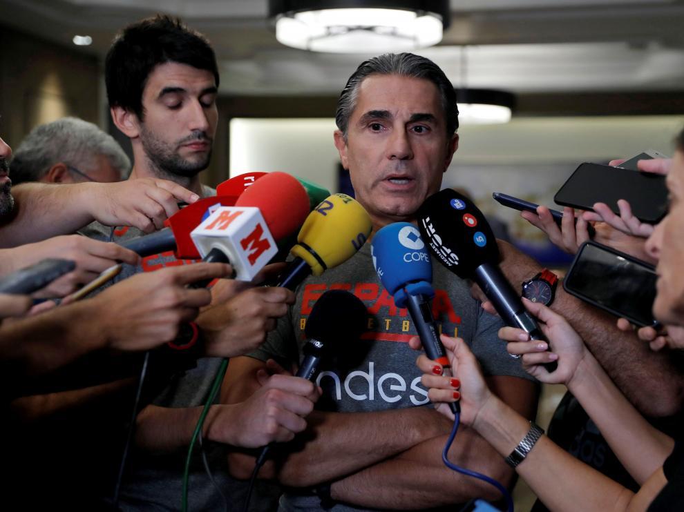 Scariolo, seleccionador nacional de baloncesto.
