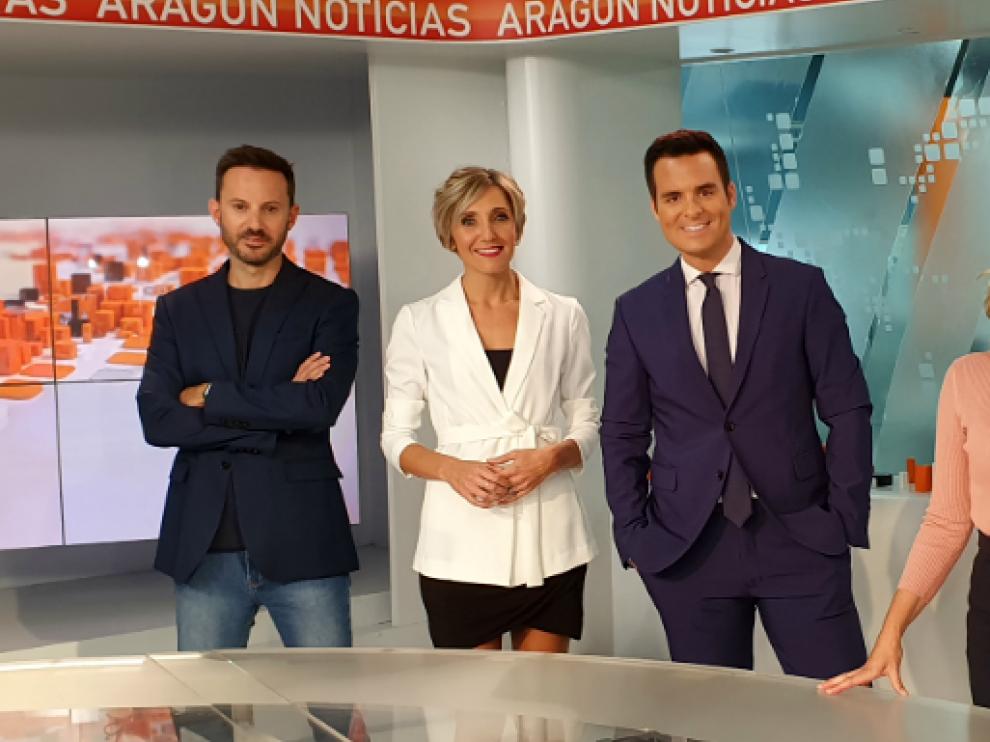 El equipo de Aragón Noticias 1
