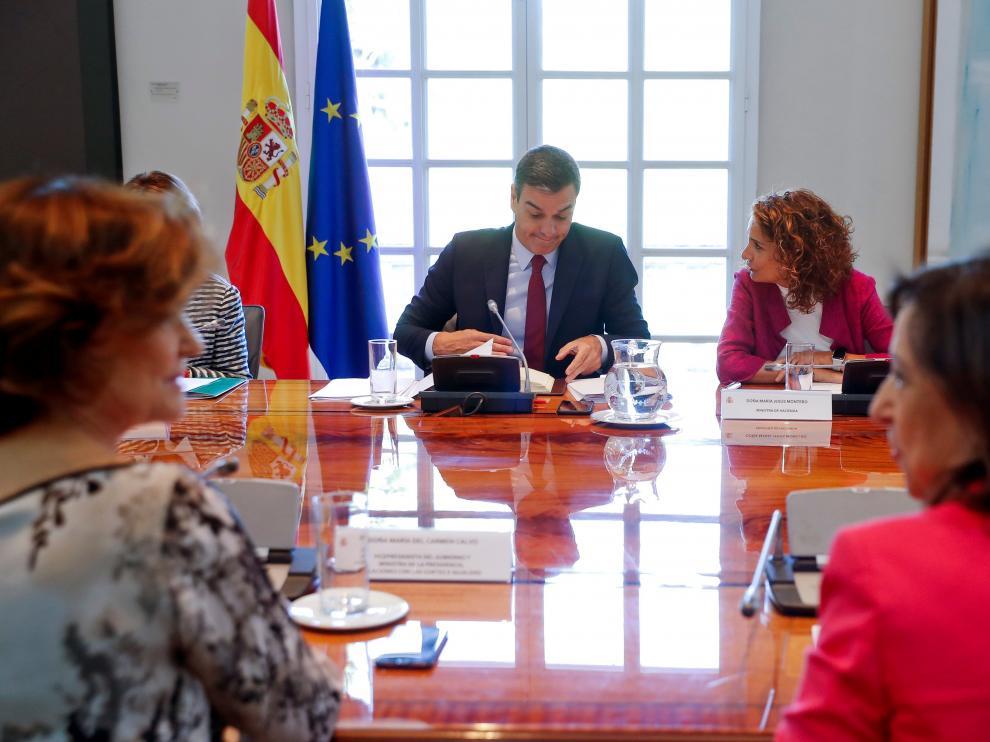 El presidente del Gobierno en funciones, Pedro Sánchez, preside este jueves en Moncloa una reunión de la Comisión interministerial para el seguimiento del proceso de retirada del Reino Unido de la Unión Europea (UE).